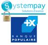 logo systempay et banque populaire